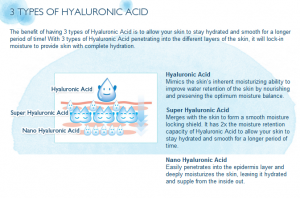 3 types of hyaluronic
